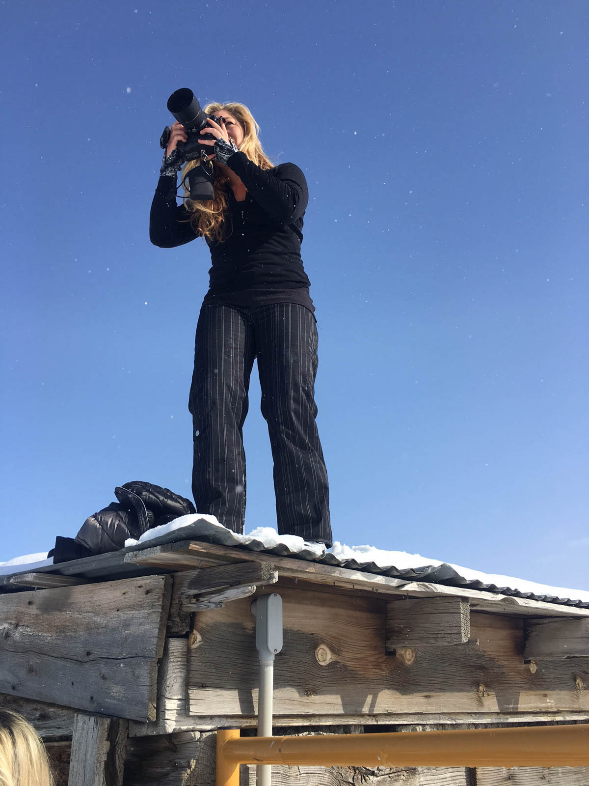 Dawn Heumann, Photographer Salt Lake City on roof